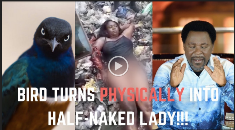 VIDEO: Bird Turns Into Half-Naked Woman, Exposes TB Joshua!